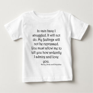 Mr. Darcy's Proposal from Pride and Prejudice Baby T-Shirt