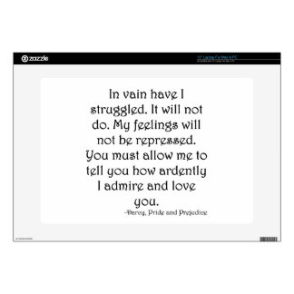 "Mr. Darcy's Proposal from Pride and Prejudice Decals For 15"" Laptops"