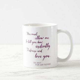 Mr. Darcy's Proposal - Jane Austen, Pride and Prej Coffee Mug