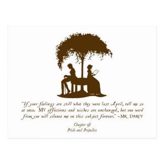 Mr Darcy's Proposal Postcard