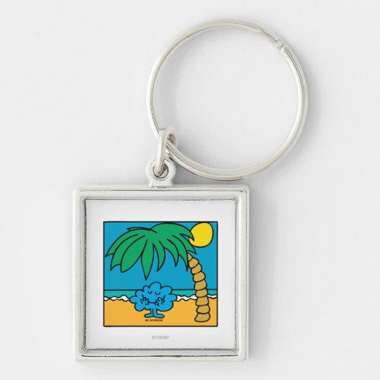 Mr. Daydream Beach Scene Keychain