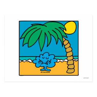 Mr. Daydream Beach Scene Postcard