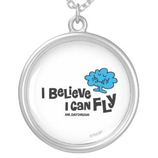 Mr. Daydream Believes He Can Fly Round Pendant Necklace
