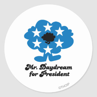 Mr. Daydream For President Classic Round Sticker