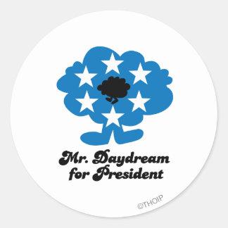 Mr. Daydream For President Classic Round Sticker
