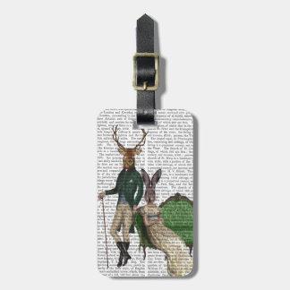 Mr Deer and Mrs Rabbit Bag Tag