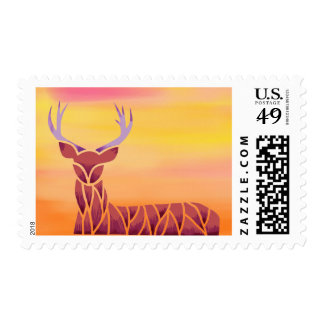 Mr. Deer Postage Stamps