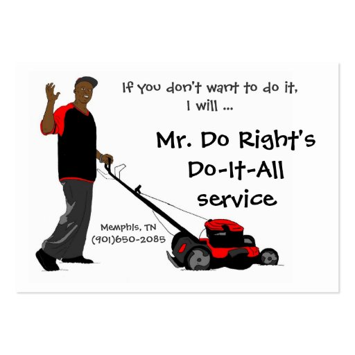 Mr. Do Right'sDo-It-All service Large Business Cards (Pack Of 100)
