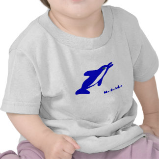 Mr. Dolphin- a dolphin graphic in blue and white Tshirt