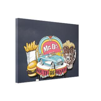 Mr. D'z Diner, Route 66, Kingman, Arizona Canvas Print