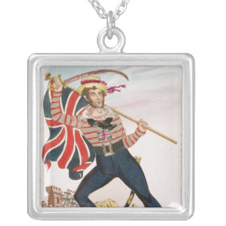 Mr E.F. Saville as 'Union Jack Silver Plated Necklace