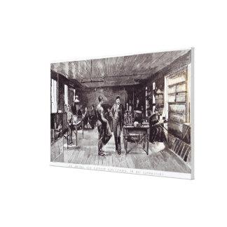 Mr Edison , The Eminent Electrician Canvas Print