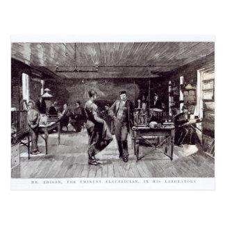 Mr Edison , The Eminent Electrician Postcard
