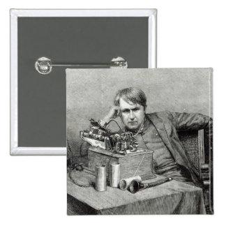 Mr.Edison's New Phonograph 2 Inch Square Button