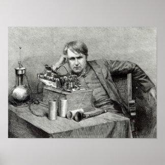 Mr.Edison's New Phonograph Poster
