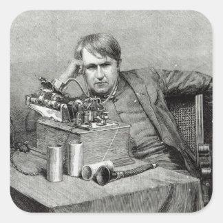 Mr.Edison's New Phonograph Square Sticker