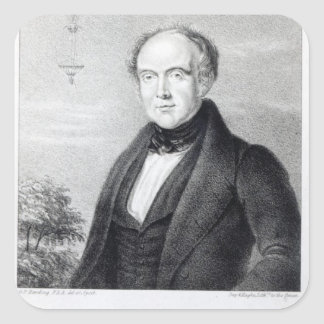 Mr. Edward Spencer, lithograph by Day & Haghe Square Sticker