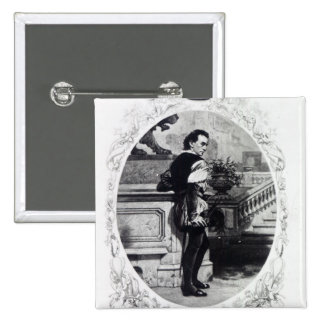 Mr. Edwin Booth as Iago 2 Inch Square Button