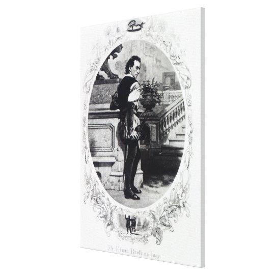 Mr. Edwin Booth as Iago Canvas Print