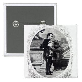 Mr. Edwin Booth as Iago Pinback Button