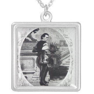 Mr. Edwin Booth as Iago Silver Plated Necklace