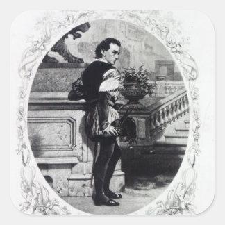 Mr. Edwin Booth as Iago Square Sticker