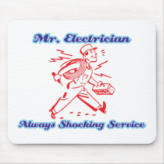 Mr Electrician Mouse Pad