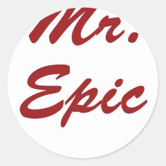 Mr. Epic Classic Round Sticker