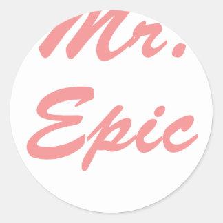 Mr. Epic! Classic Round Sticker