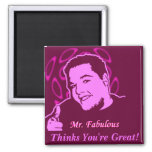Mr. Fabulous Thinks You're Great! Refrigerator Magnets