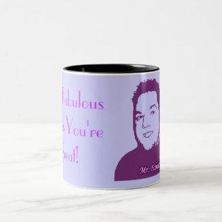 Mr. Fabulous Thinks You're Great! Two-Tone Coffee Mug