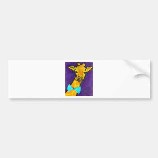 Mr. Fancy Giraffe Car Bumper Sticker