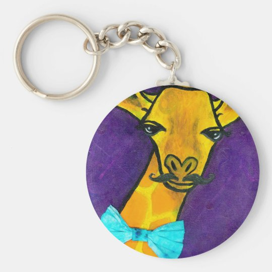 Mr. Fancy Giraffe Keychain
