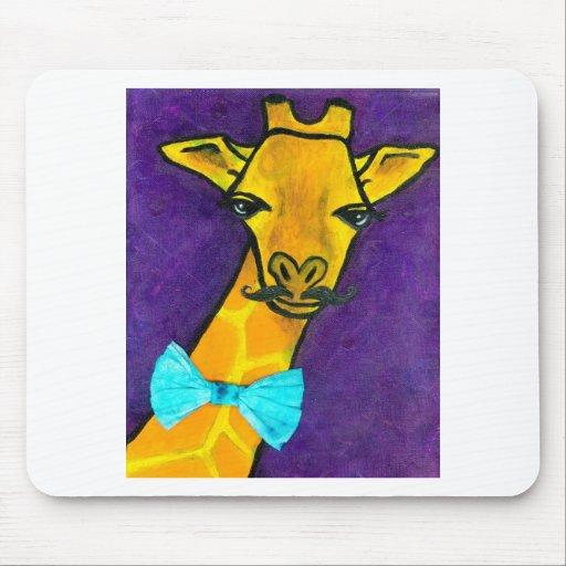 Mr. Fancy Giraffe Mouse Pad