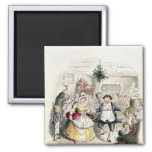 Mr Fezziwig's Ball, from 'A Christmas Carol' 2 Inch Square Magnet