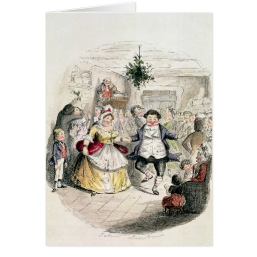 Mr Fezziwig's Ball, from 'A Christmas Carol' Cards