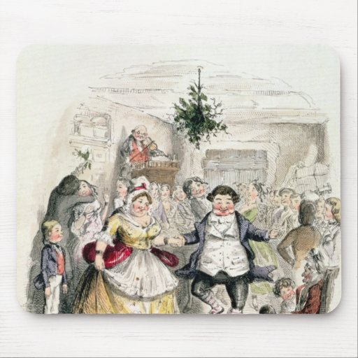 Mr Fezziwig's Ball, from 'A Christmas Carol' Mouse Pad