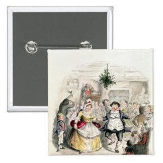 Mr Fezziwig's Ball, from 'A Christmas Carol' Pinback Button