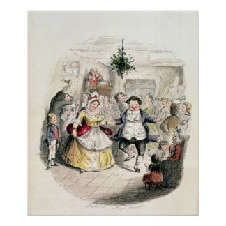 Mr Fezziwig's Ball, from 'A Christmas Carol' Poster