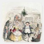 Mr Fezziwig's Ball, from 'A Christmas Carol' Square Sticker