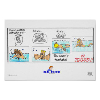 Mr. Fitz: Be Teachable 1 - Swimming Poster