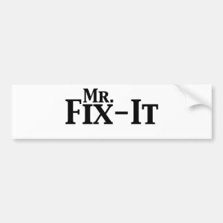 mr fix it car bumper sticker
