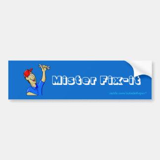 """""""Mr. Fix-it"""" Car Bumper Sticker"""
