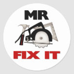 Mr Fix It Classic Round Sticker