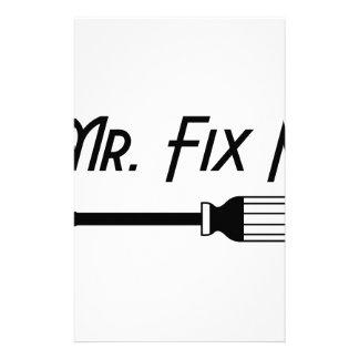 Mr. Fix It Stationery
