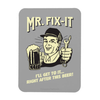 Mr. Fixit: After this Beer Rectangular Photo Magnet