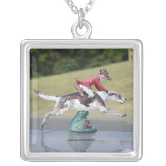 Mr. Fox Goes Foxhunting Silver Plated Necklace