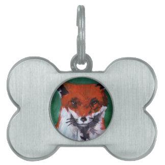 Mr. Fox Pet Name Tag