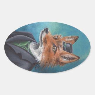 Mr. Fox Sticker Animal Sticker Victorian Fox