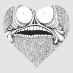Mr. Freaky is a bizzare illustration. Heart Stickers